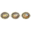 Plastic Trimming-stellina 5Yds 28x23mm Marigold Aurora Borealis